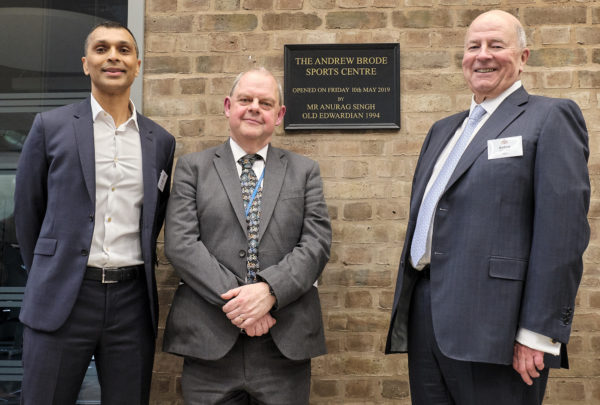 Anurag Singh, Keith Phillips and Andrew Brode at the official opening.